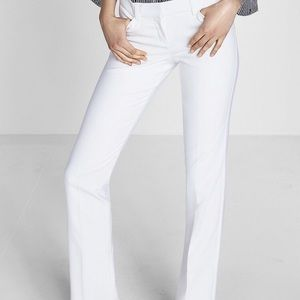 Express white editor barely boot dress pants